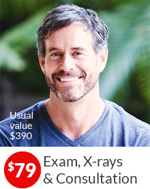 $79 Exam, X-rays & Consultation. Usual value $390. Learn more.
